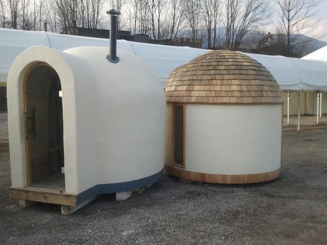 igloo in natural beton by ecopassion equilibrium bioedilizia equilibrio naturale costruito. Black Bedroom Furniture Sets. Home Design Ideas