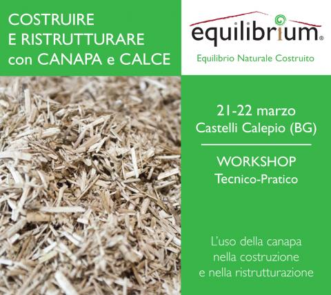 Canapa e calce - Workshop Equilibrium Marzo 2014