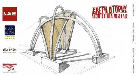 Green Utopia - Fuorisalone - Padiglione in canapa e calce