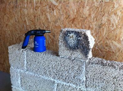 Resistenza al fuoco - Biomattone® in canapa e calce