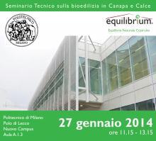 Bioedilizia in canapa e calce al Politecnico di Milano